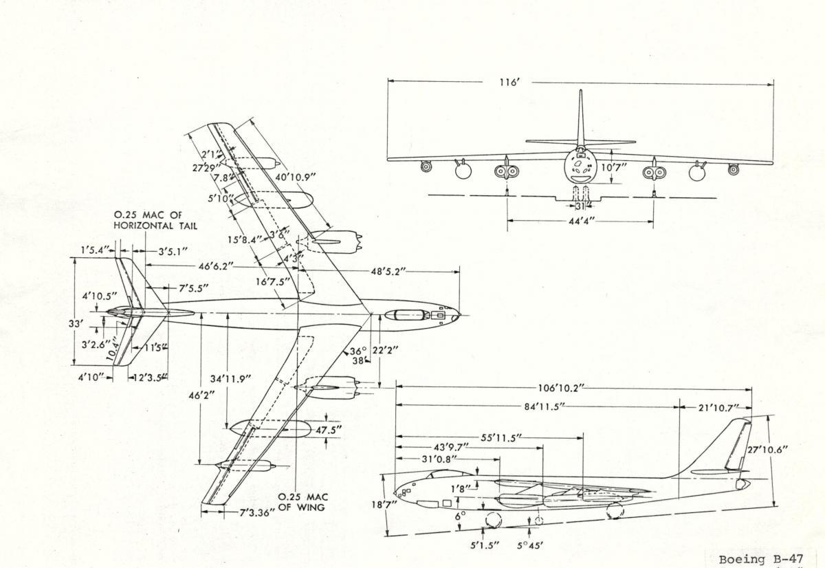 boeing b-47e stratojet   1 8 7669