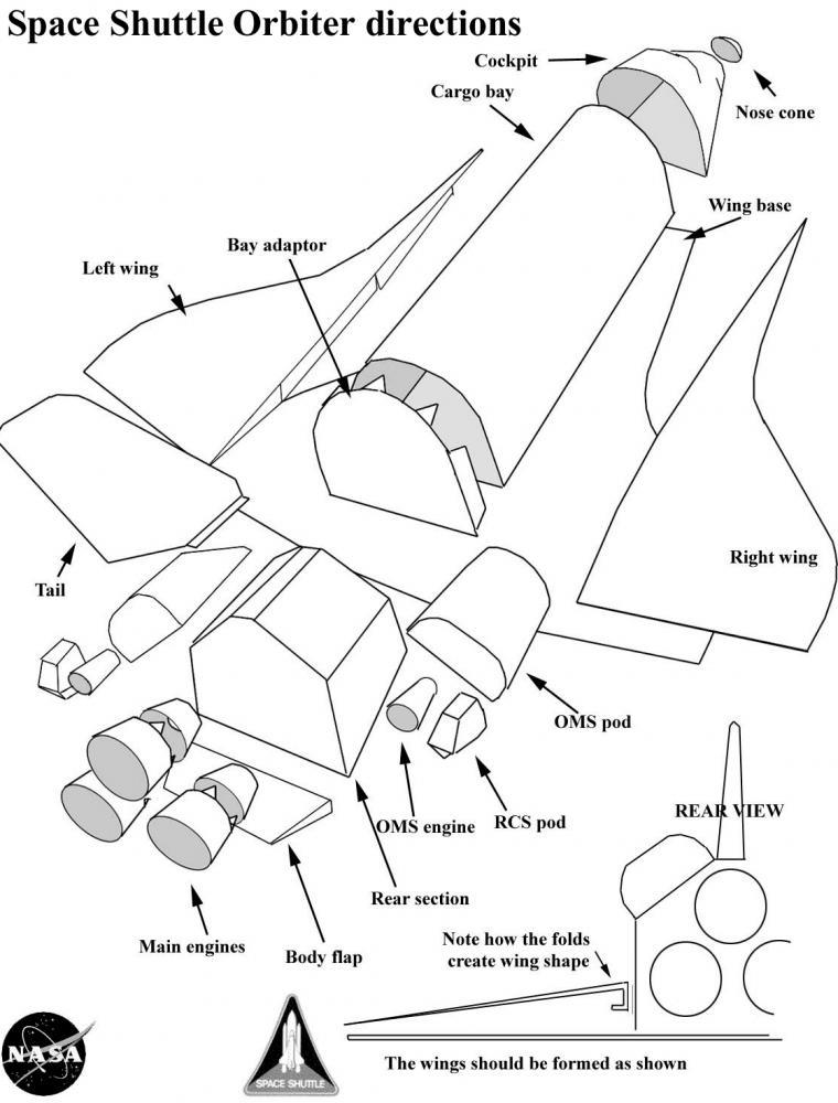 rc space shuttle plans