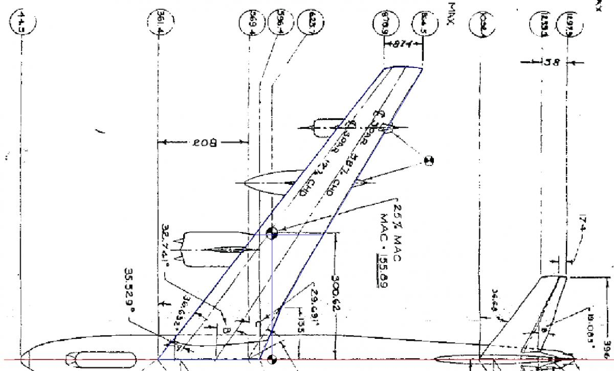 B-47 8.77th (1:8.7669) Scale, Boeing Stratojet Component