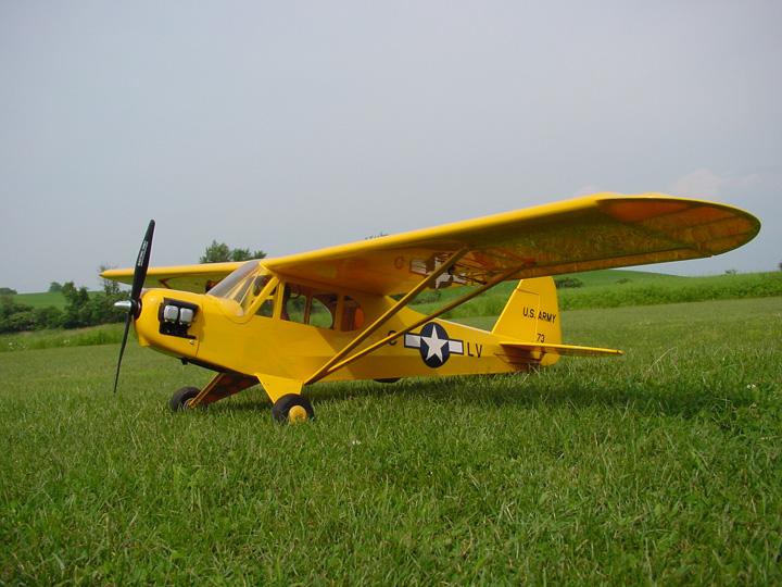 E-Flite_25_J-3_Cub_Liason_kit_bash