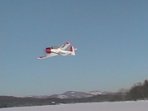 T-28_in_flight